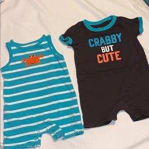 2 piece Carters outfits- EUC